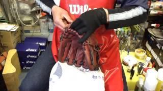 野球 Baseball Shop【#377】グラブのレストア 硬式内野手用⑦ Restore A Glove Part 7