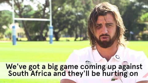 Tom Wood interview, England training camp