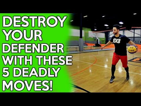 How To: 5 DEADLY Basketball Moves To KILL Defenders!