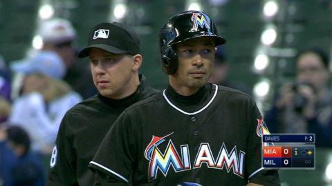MIA@MIL: Ichiro records career hit 2,944