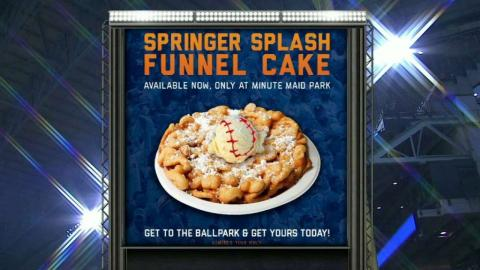 BAL@HOU: Funnel cake gets named after foul ball
