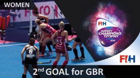NZL 1-2 GBR From a tight angle, Owlsey restores her side's lead with minutes left in the half
