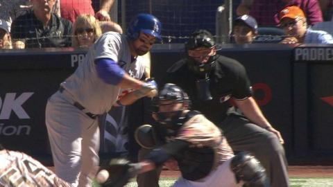 LAD@SD: Dodgers challenge, seek hit-by-pitch in 7th