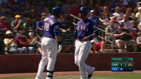 OAK@TEX: Beltre smacks an RBI single to left field