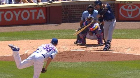 MIL@CHC: Brewers plate seven runs in the 3rd vs. Cubs