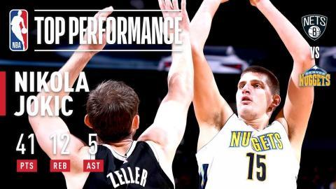 Nikola Jokic Scores CAREER-HIGH 41 Points in Win vs. Nets | November 7, 2017