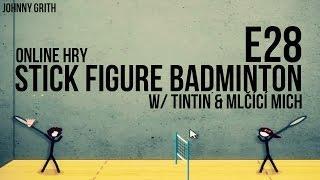 Online Hry | E28 | Stick Figure Badminton 2 W/ Tintin & Mlčicí Mnich