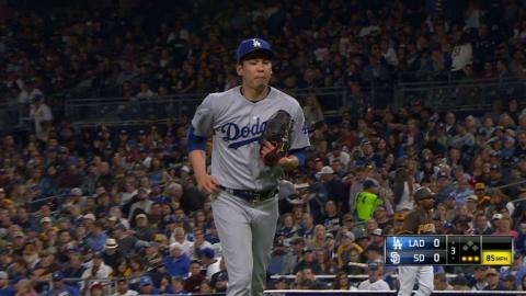 LAD@SD: Maeda fans Margot for his sixth straight K
