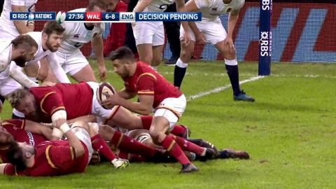 Webb inches away from scoring crucial try! | RBS 6 Nations