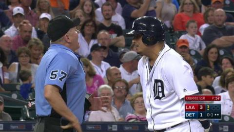LAA@DET: V. Martinez ejected for arguing in the 3rd
