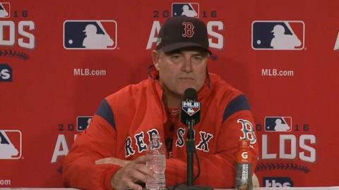 CLE@BOS Gm3: Farrell on elimination from the playoffs