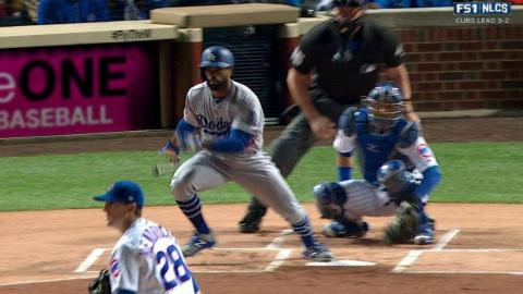 NLCS Gm6: Toles leads off the game with a single