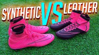 Nike Superfly 4 • Synthetic VS Leather - Test & Review by freekickerz