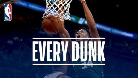 Giannis Antetokounmpo, Dennis Smith Jr., and Every Dunk From Tuesday Night | November 7, 2017