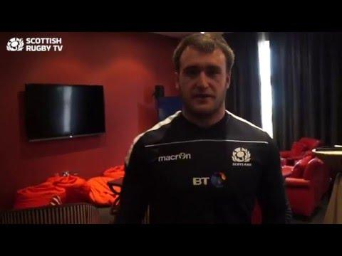 Stuart Hogg's tour of St Andrews camp