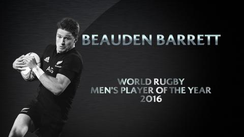 Beauden Barrett wins Men's Player of the Year | World Rugby Awards 2016
