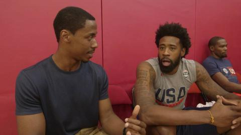 USA Basketball Learns Portuguese With Jerome Meyinsse