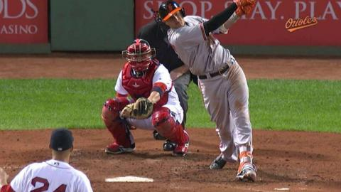 BAL@BOS: Machado launches solo jack over the Monster