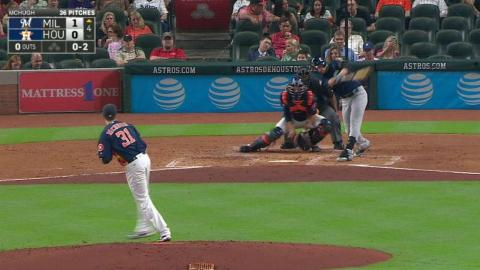 MIL@HOU: Braun hammers a home run to left