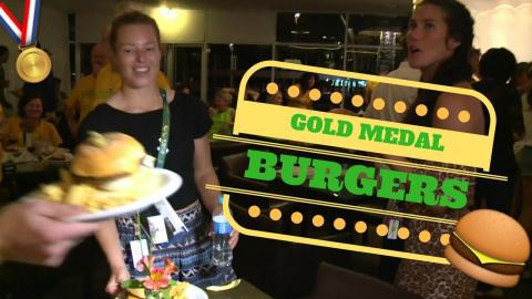 Drinks and Burgers for Australia's Gold medalists!
