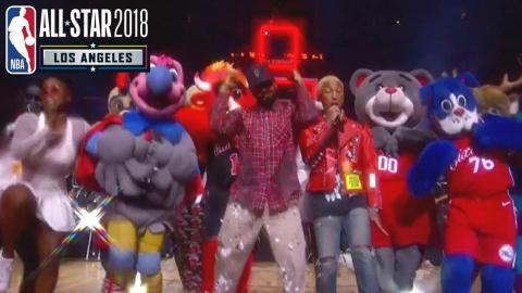 N.E.R.D 2018 NBA All-Star Halftime Performance | Pharrell & Migos!!!