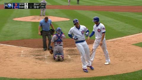 NYM@CHC: Rizzo hits a two-run moonshot in the 5th