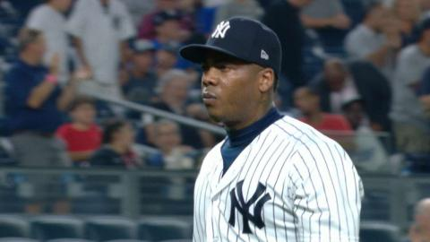 TB@NYY: Chapman K's four over two perfect frames