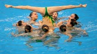 North Korean Girls Synchronized Swimming At The Olympic