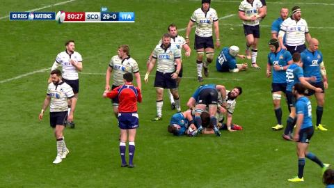 Scottish defence holds strong to finsh match on a high! | RBS 6 Nations