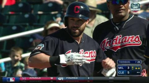 MIL@CLE: Kipnis singles in a run in the 6th inning