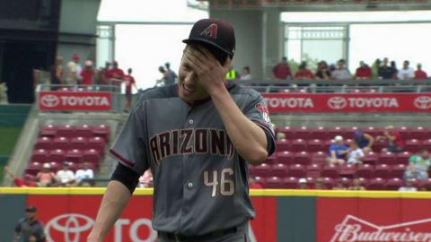 ARI@CIN: Corbin leaves the bases loaded in 4th