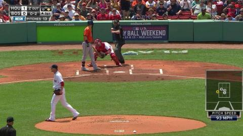 HOU@BOS: Buchholz strikes out Gonzalez looking