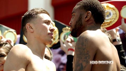 HBO Boxing News: Golovkin-Wade Weigh In
