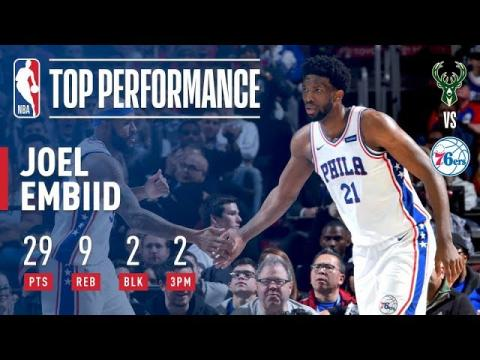 Joel Embiid Puts Up 29 Points vs The Bucks