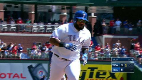 SEA@TEX: Prince hits three-run homer to upper deck