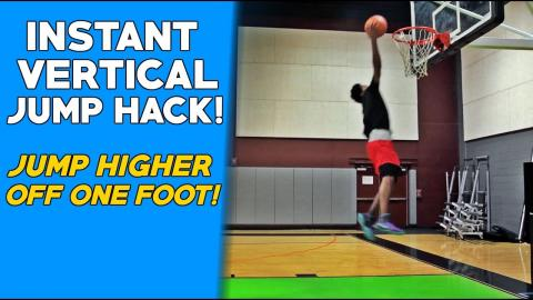 INSTANT Vertical Jump FIX To JUMP HIGHER Off One Foot!