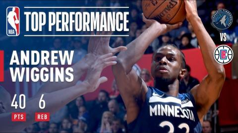 Andrew Wiggins Scores a Season-High 40 Pts in L.A. | January 22, 2018