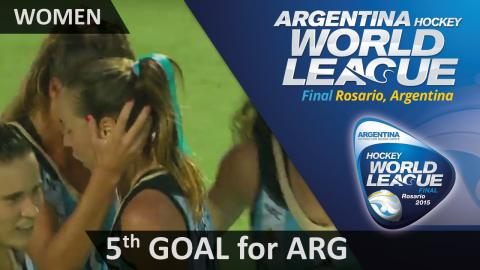 ARG 5-1 NZL Merino smashes the ball into the roof from a tight angle #HWL2015 #Rosario