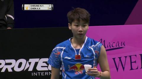Macau Open 2016   Badminton SF M2-WS   Cheung Ngan Yi vs Chen Xiaoxin