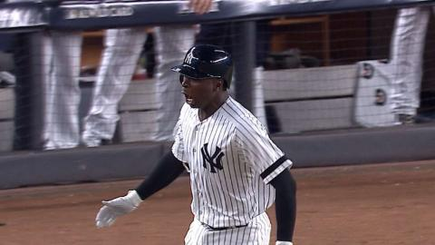 AL WC: Gregorius ties the game with three-run homer
