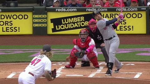 MIL@CIN: Braun hammers a line-drive solo homer
