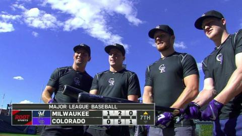 MIL@COL: Avalanche take BP at Coors Field