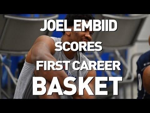 Joel Embiid Scores First NBA Bucket