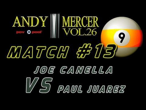#13 • 2016 Mercer 9-Ball • Joe CANELLA vs Paul JUAREZ