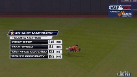 HOU@KC Gm1: Marisnick runs 19 mph to make diving grab