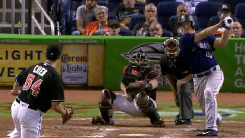 COL@MIA: Rockies plate six in the 3rd to jump ahead