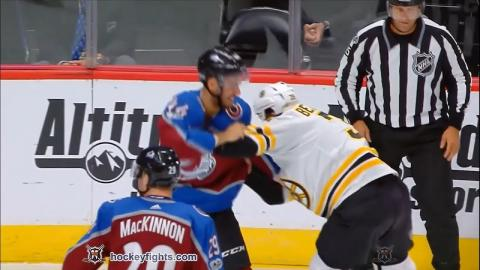 Matt Beleskey vs Mark Barberio Oct 11, 2017