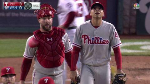PHI@WSH: Phillies turn 6-4-3 double play to end game