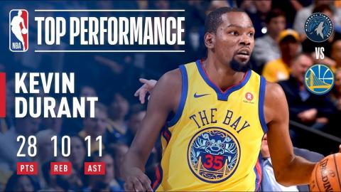 Kevin Durant's 10th Career Triple-Double (28/10/11) | January 25, 2018