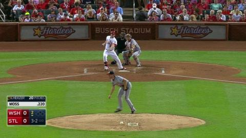 WSH@STL: Moss belts solo homer to right-center field